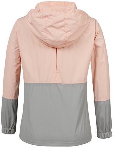 SoTeer Women's Waterproof Raincoat Outdoor Hooded Jacket