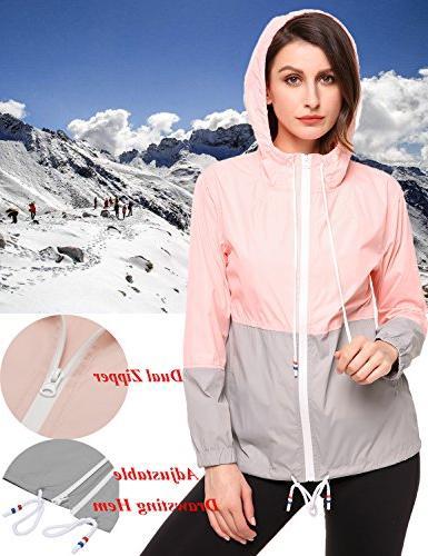 SoTeer Women's Raincoat Outdoor Hooded Jacket
