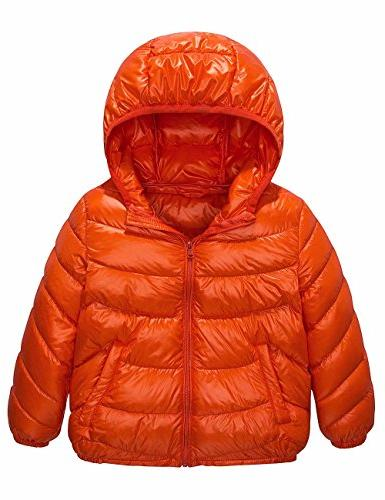Spring&Gege Boys' Quilted Packable Hoodie Lightweight Puffer