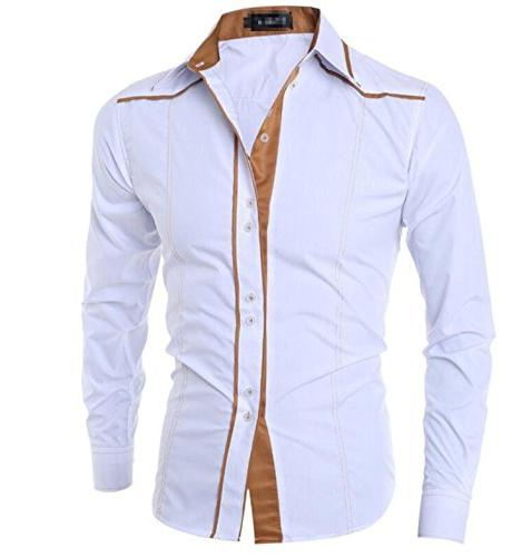 Summer-lavender-men shirt Men Shirts Casual Shirt Men Neckli