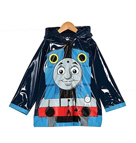 Thomas the Tank Engine Boy's Blue Rain Coat - Toddler