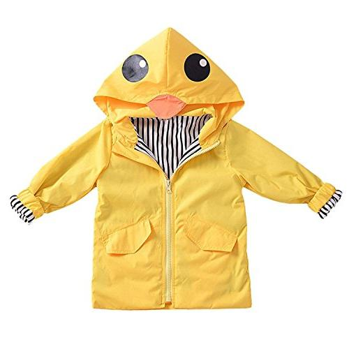 Toddler Baby Boy Duck Cartoon Hoodie Zipper Coat