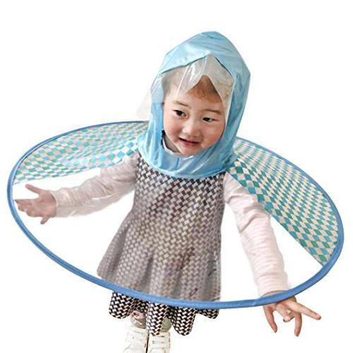 Tpingfe UFO Cute Rain Coat, Foldable Umbrella Hat Magical Ha