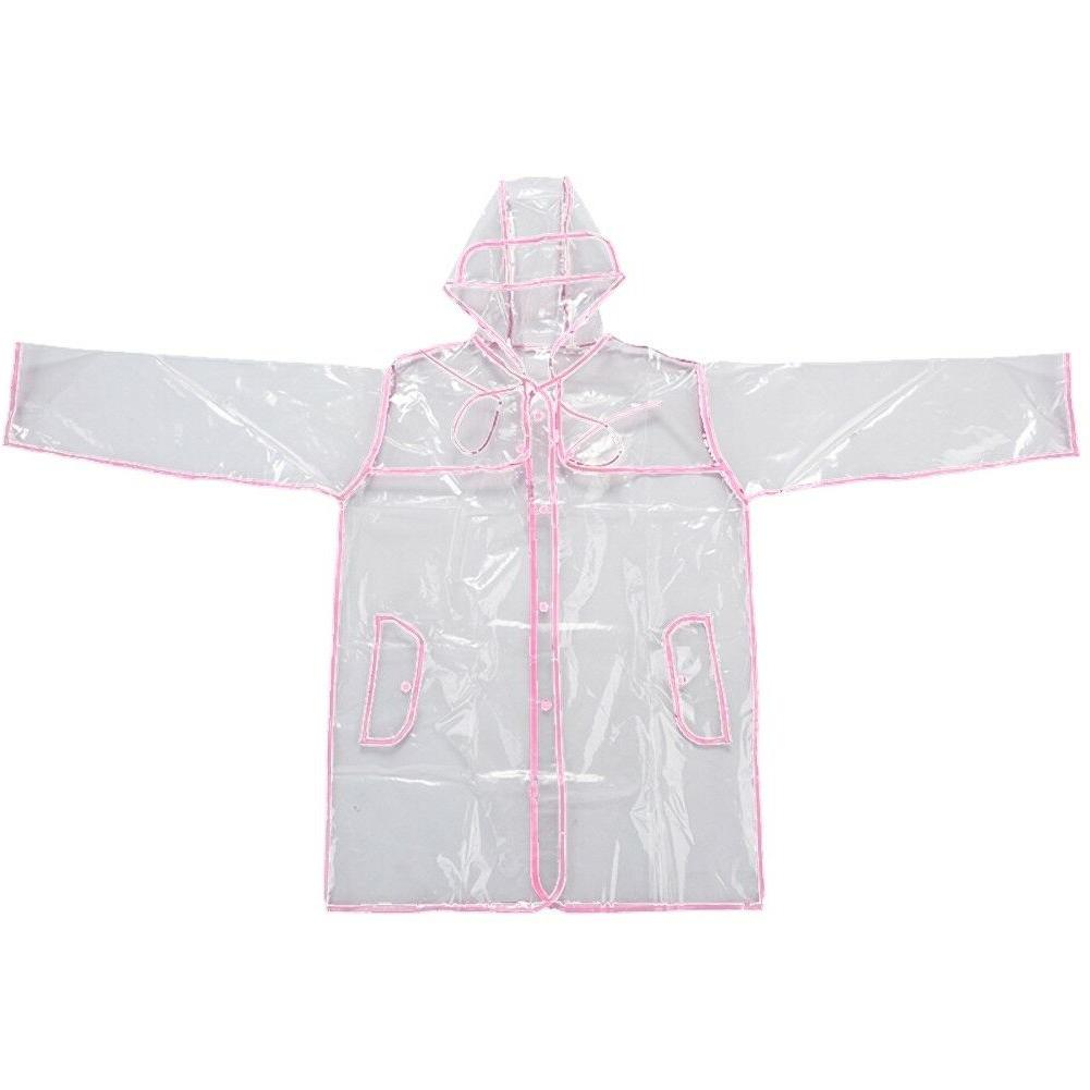 Transparent Vinyl Style Girls Clear Fashion Coat