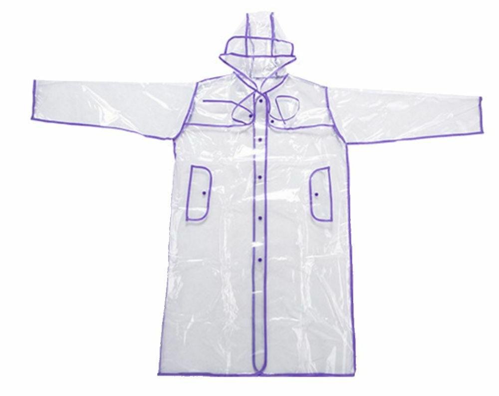 Transparent Raincoat Runway Style Womens Clear Fashion Rain Coat