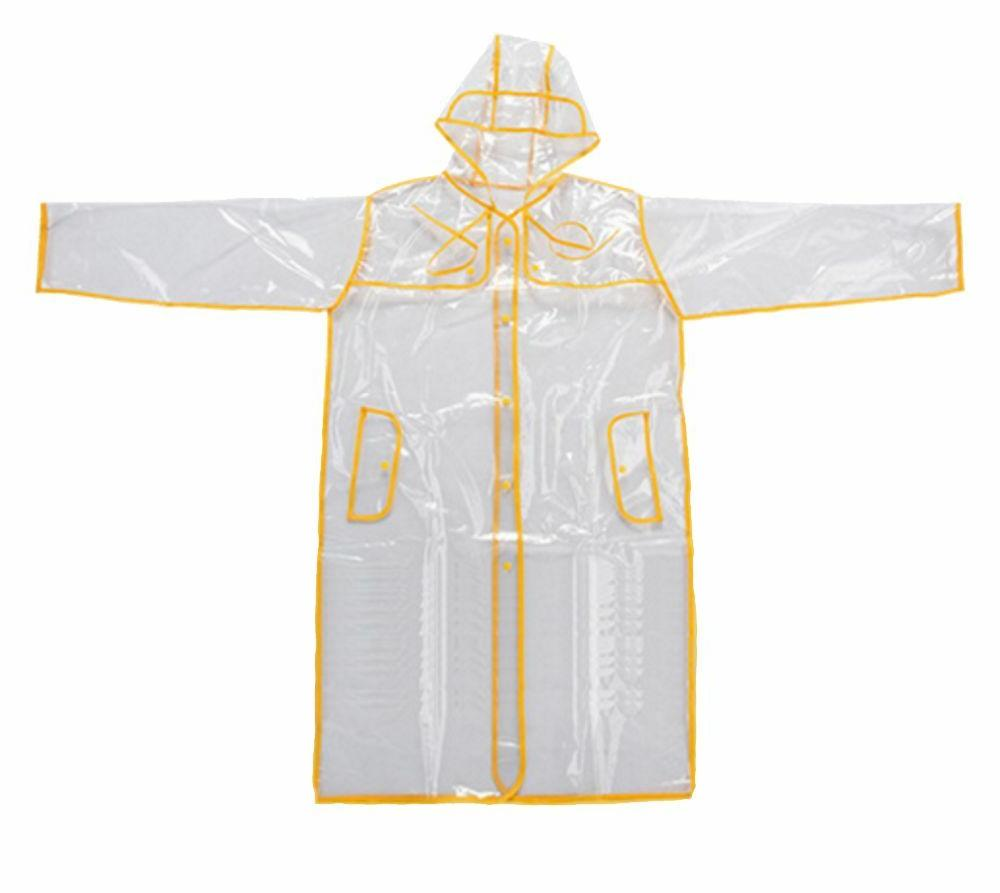 Transparent Vinyl Raincoat Style Womens Girls Fashion
