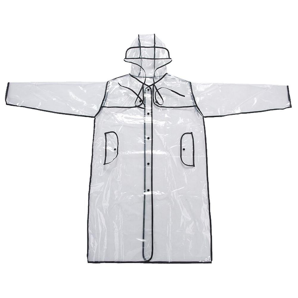 Transparent Vinyl Style Girls Fashion Rain Coat