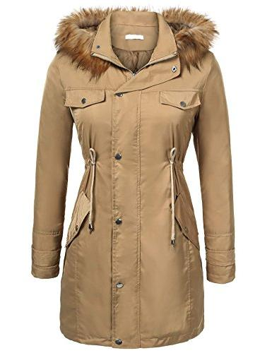 UNibelle Womens Winter Parka Hooded Coat Fleece Lined Parkas