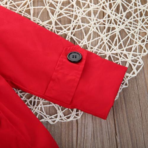 USA Girl Kids Long Jacket Parka Outwear Clothing