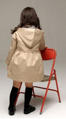 USA Girl Long Trench Coat Jacket Outwear Clothing
