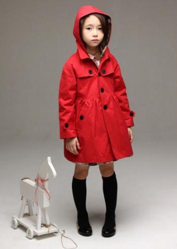 USA Girl Long Rain Jacket Clothing