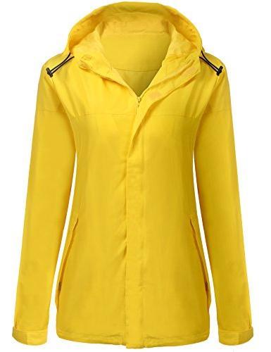 39801ef9cbfee Unibelle Waterproof Lightweight Rain Jacket Active Outdoor Hooded
