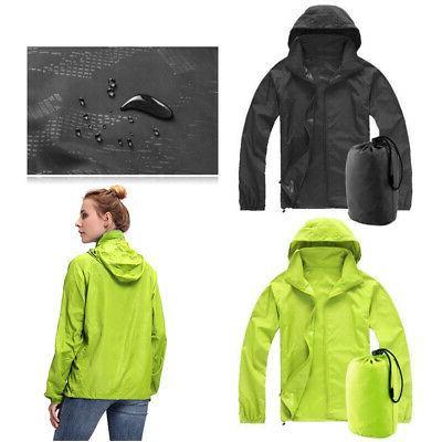 Women Waterproof Outdoor Rain Coat Portable