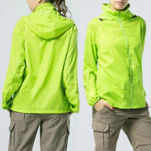 Womens Rain Coat Zip Jacket
