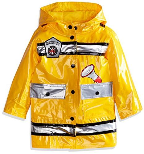 Wippette Toddler Boys' Fireman Raincoat, Gold, 2T