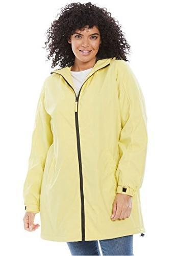 Women's Plus Size Hooded Slicker Raincoat