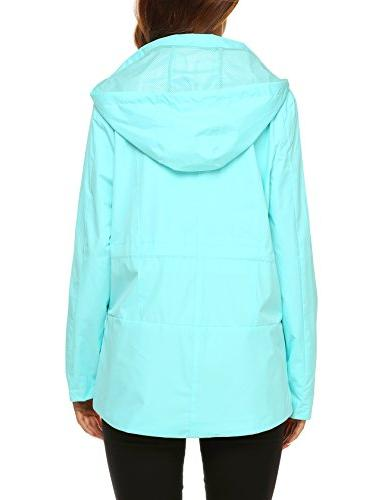 ZHENWEI Coat Women Hiking Athletic Foldable