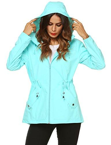 ZHENWEI Rain Coat Women Athletic Vintage Plus