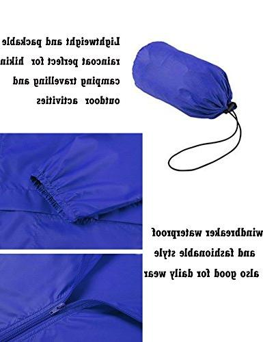 ZHENWEI Women's Outdoor Hooded Rain Jacket L