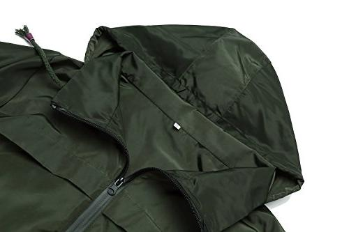 Trench Windbreaker Rain Jacket