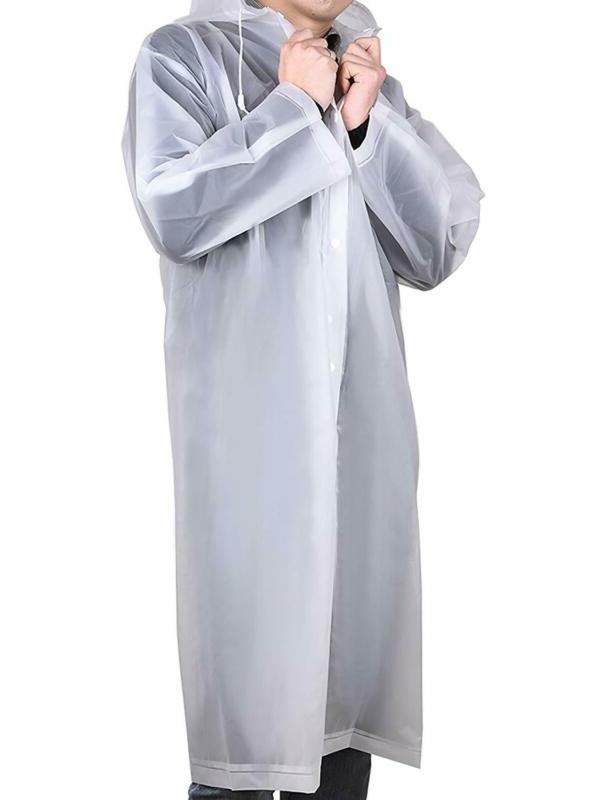 Mudder Adult Raincoat Rain Poncho Hoods and