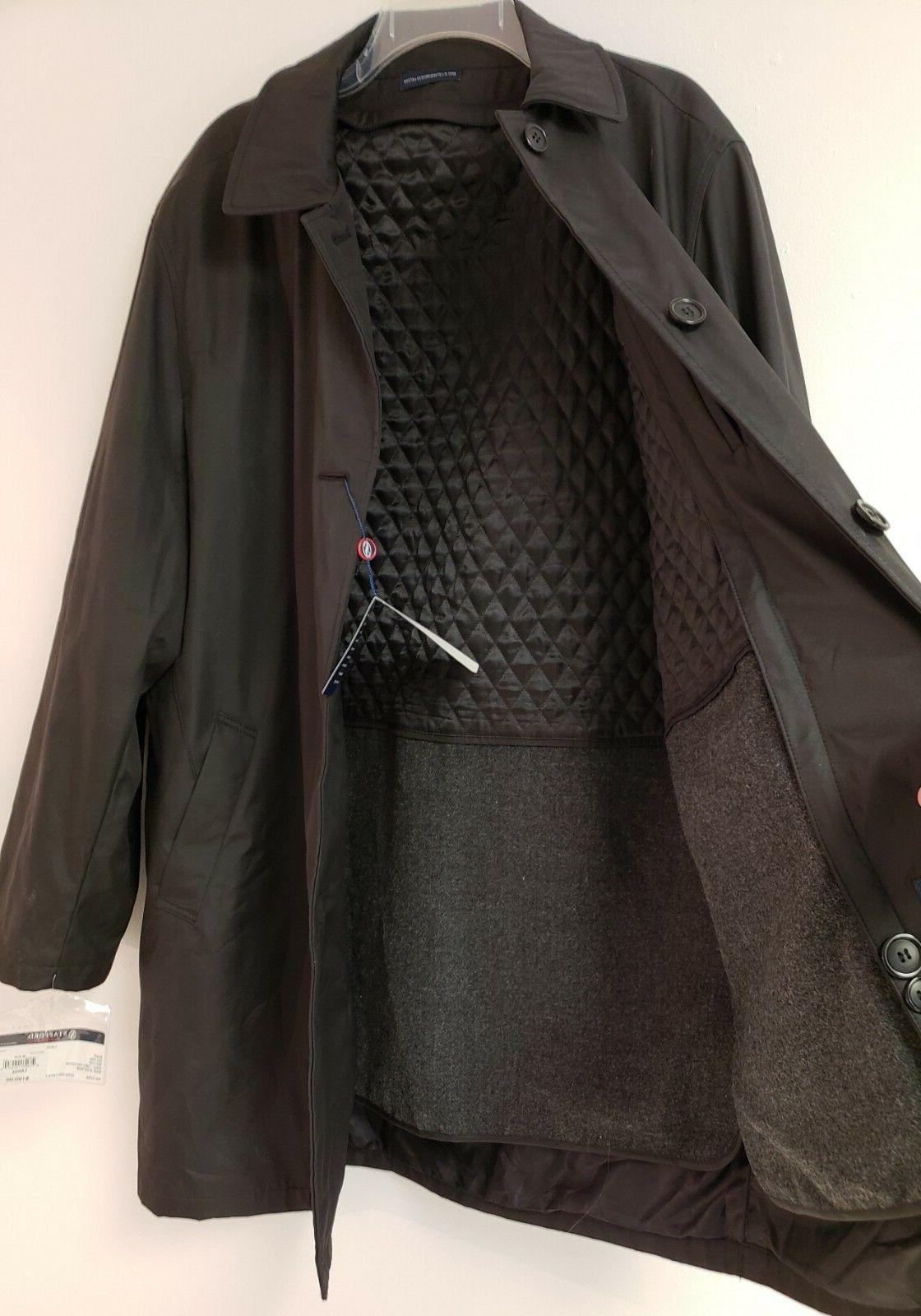 Stafford Black Removable Quilted Over-Coat