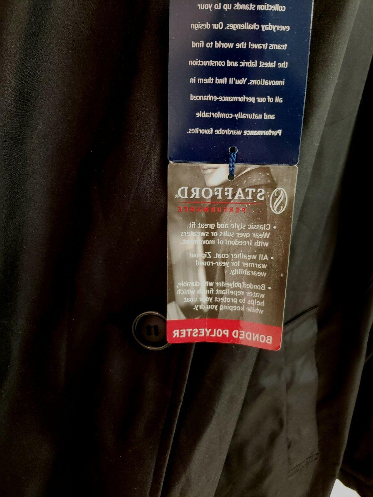 Stafford Removable Liner Rain Over-Coat
