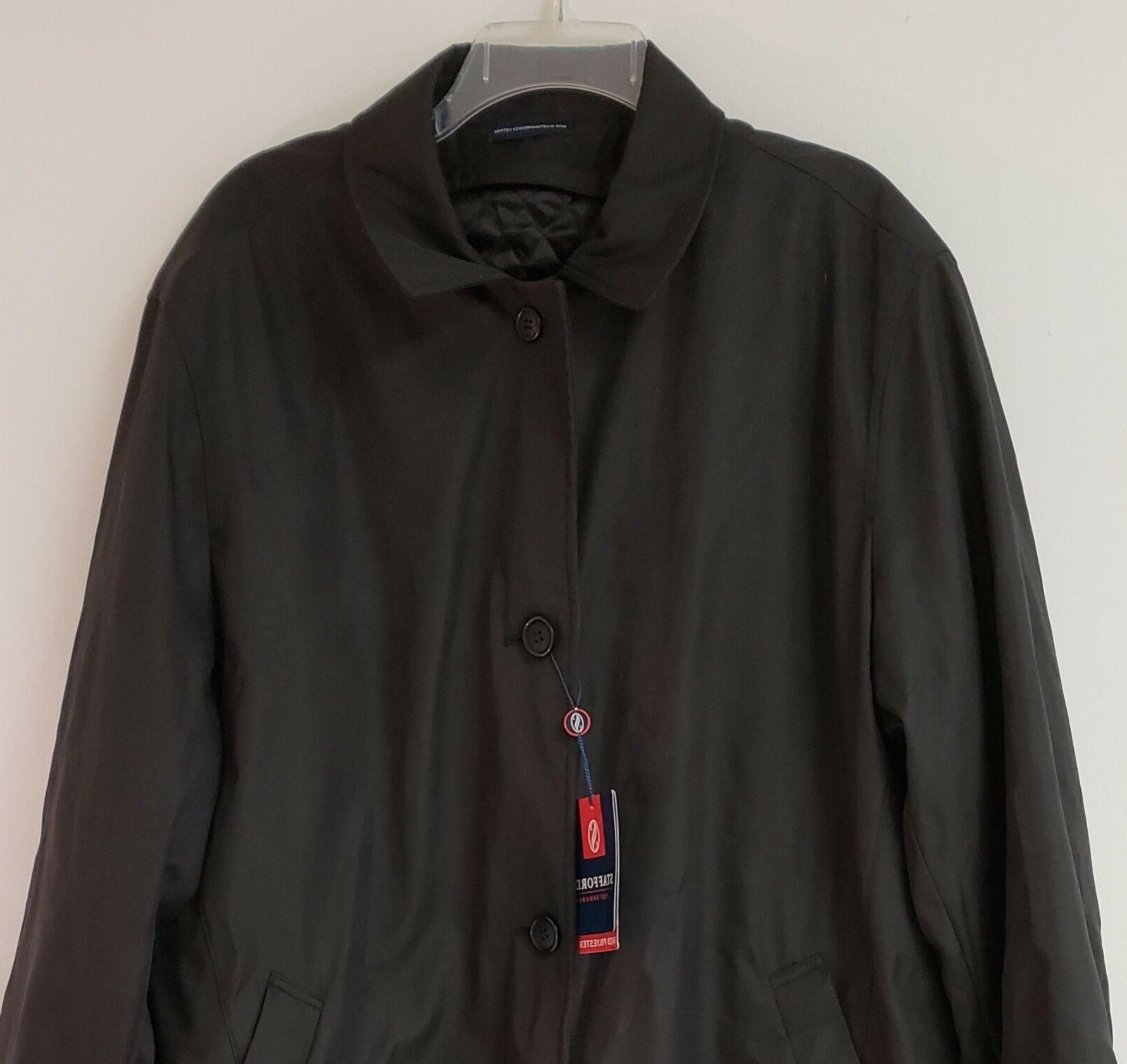 Stafford Weather Removable Quilted Over-Coat Large NEW