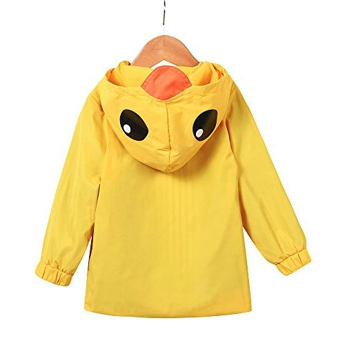 Raincoat Hooded Zip Coat Outwear Baby Fall Clothes Oufits