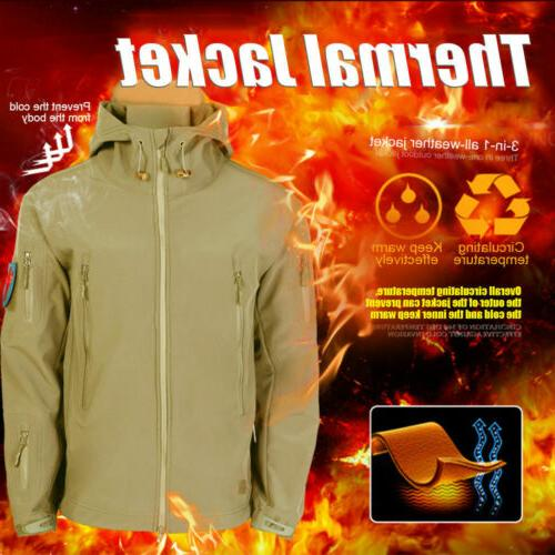 Tactical Camping Rain Coat Hooded Waterproof Windbreaker