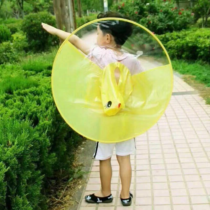 Baby Girls Duck Raincoat Umbrella Funny Christmas UFO