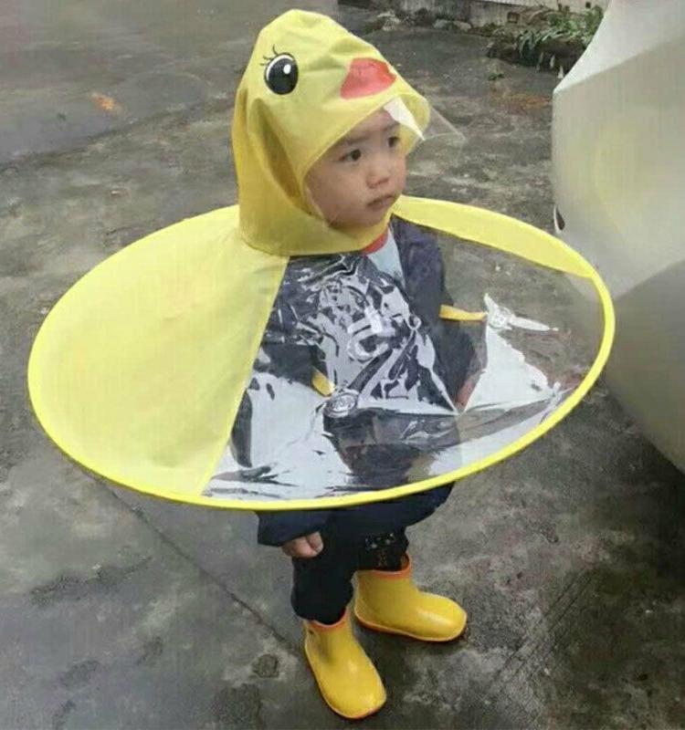 baby boys girls kids children duck raincoat