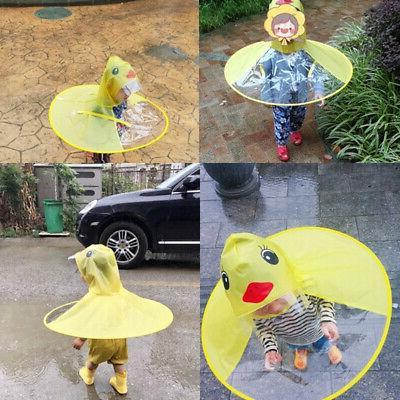 Children Raincoat Umbrella Kindergarten Coat Funny