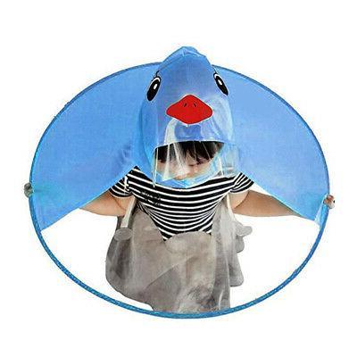 Baby Girls Children Duck Raincoat Kindergarten