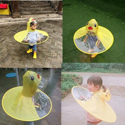 Baby Girls Kids Children Duck Raincoat Kindergarten