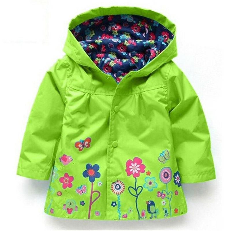 Baby Hooded Raincoat Wear Windproof Y