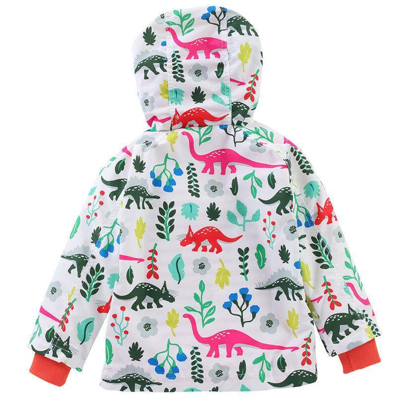 Baby Hooded Raincoat Wear Windproof Outerwear Y