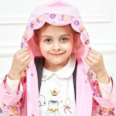 Baby Girl Boy Cartoon Backpack Raincoat Outdoor Waterproof Hooded Rain