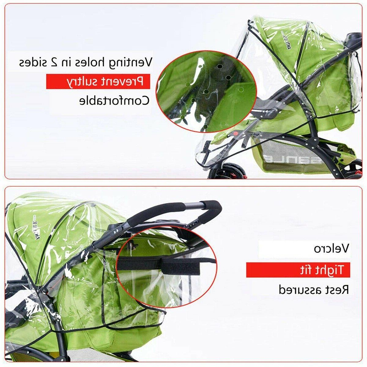 Baby Stroller Cover Wind Universal Rain Canopy Raincoat for Pushchair