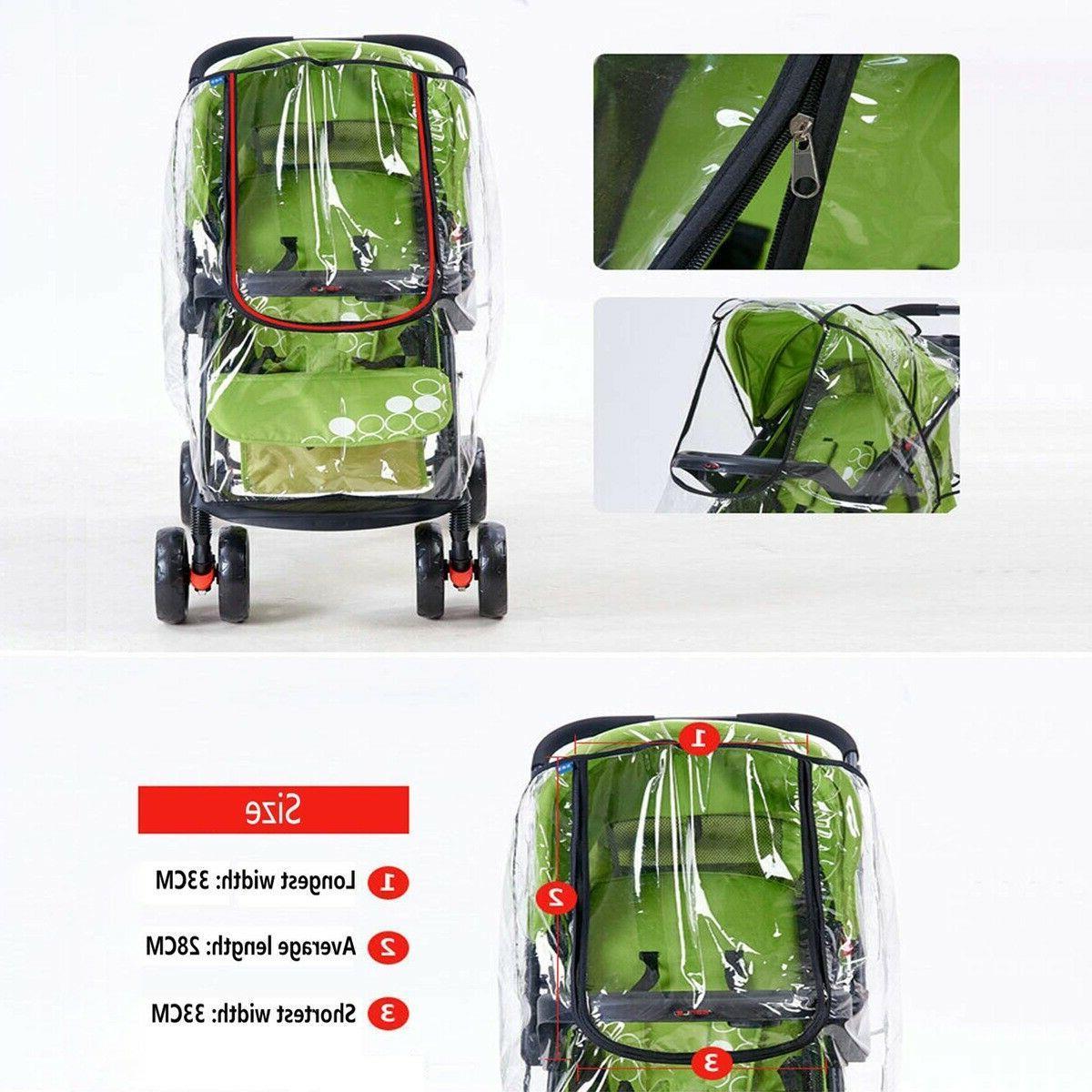 Baby Stroller Rain Wind Universal Rain Canopy Raincoat for
