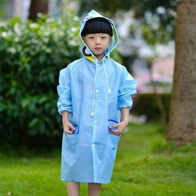 Boys Girl Kids Raincoat Rain Coat Hooded Rainwear Suit Cape