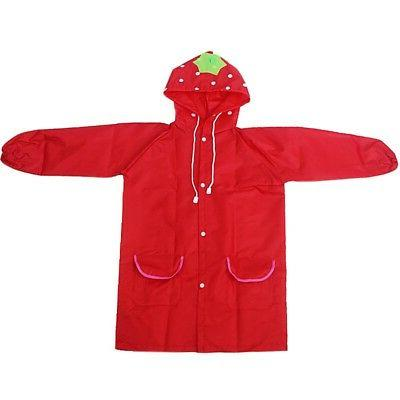 Boys Girl Children Raincoat Rain Rainwear Poncho Cape