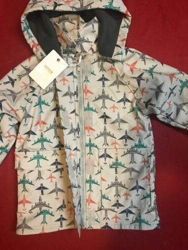 Minoti Boys Rain Jacket Lined Aeroplane Mac 3-4 Years