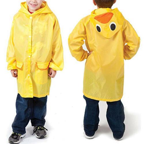Cartoon Animal Style Waterproof Kids Raincoat For Children R
