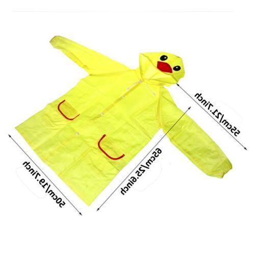 Cartoon Animal Style Kids Raincoat For Children Rain Coat Rainwear