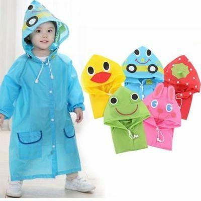 cartoon animal style waterproof kids raincoat