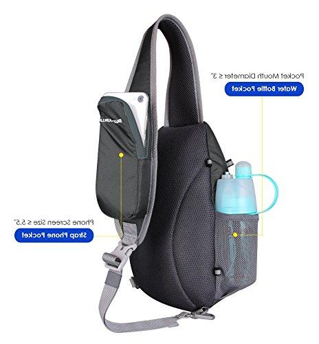 WATERFLY Sling Backpacks Cute Crossbody Rope Triangle Rucksack for Hiking Daypacks for Man