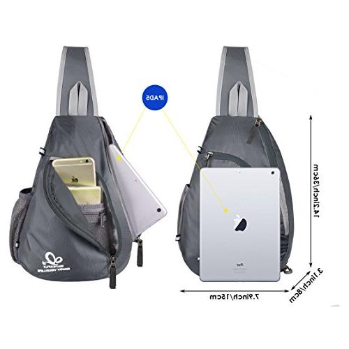 WATERFLY Shoulder Backpacks Bags Crossbody Rope Triangle Daypacks for Man Women Lady