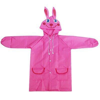 Children Kid Raincoat Coat Suit Poncho Jacket