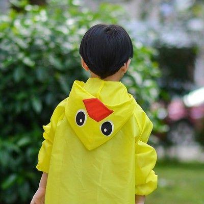 Children Cartoon Rain Kids Cute Sleeve Pocket Rainwear